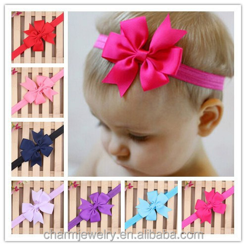NEW grosgrain ribbon Girl <strong>hair</strong> bow Headbands Boutique +girls elastic <strong>hair</strong> bands+<strong>hair</strong> <strong>accessories</strong> for kids BTS006