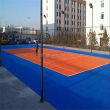PP portable temporary tennis court sports flooring used