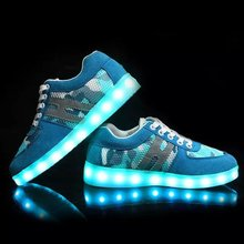 2015 new style fashion leather LED light shoes for men, seven flash light led shoes casual fashion hot sell made in china brand