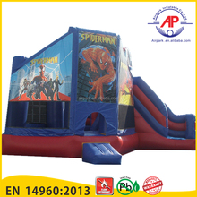 2016 New design cartoon spiderman inflatable bounce house for sale