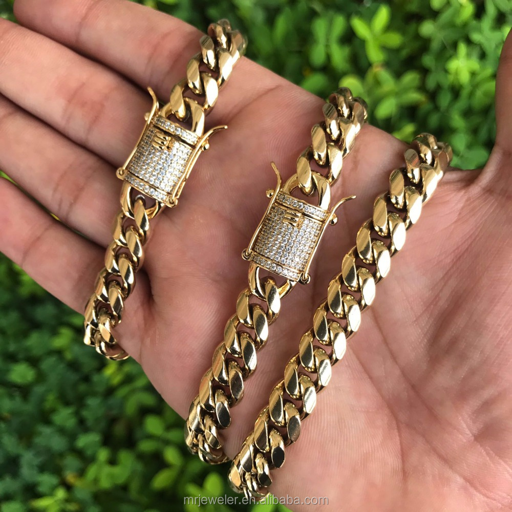 Missjewelry latest 24k gold cuban link chain designs in 2016 , new gold chain design for men