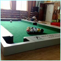 White wood material structure snook soccer balls and snookball table