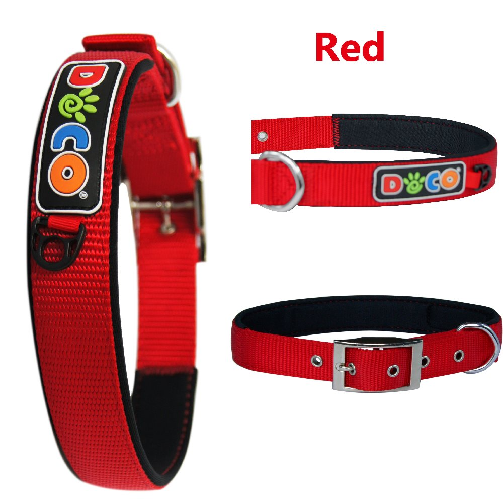 Wholesale colorful hot sale Zinc Buckle nylon collar dog Small Red