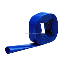 High pressure blue color 2 inch PVC soft flexible water irrigation hose