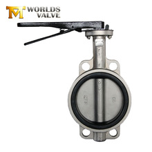 Wrench operated wafers end type butterfly valves manufacturer