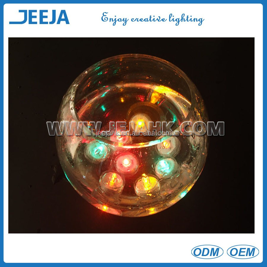 2016 Wedding Decoration Waterproof Colored Led Submersible Tea Lights