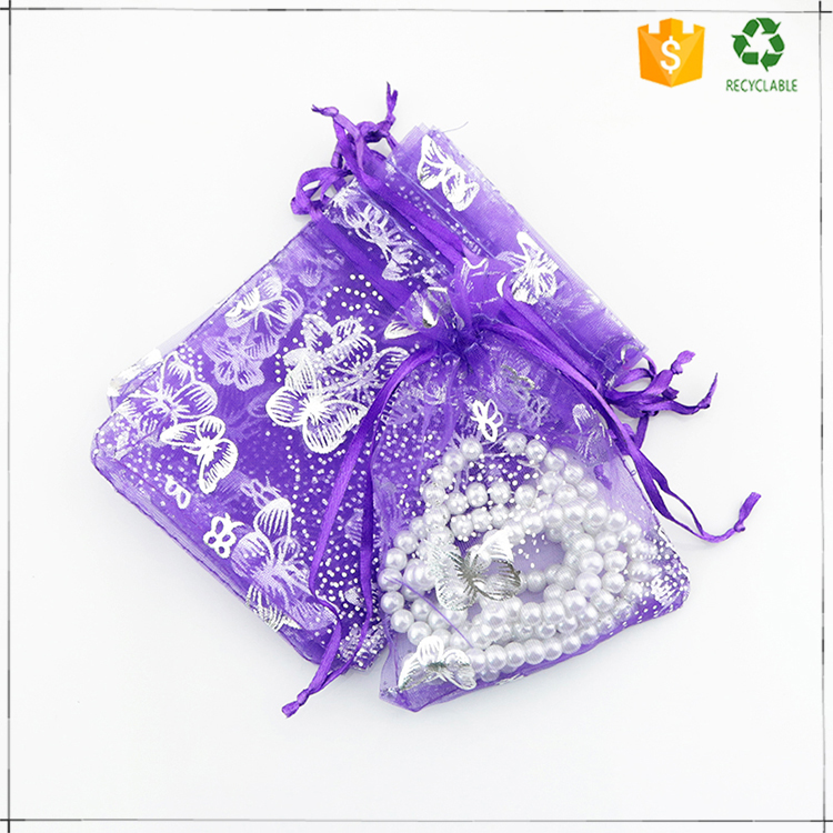 Wholesale China Factory Custom Organza Gift Bags For Wedding