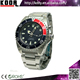 Kinetic 200M Scuba 316L Stainless Steel Black Dial Dive Watches for Men