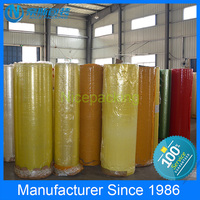 No bubble brand offer printing bopp film material jumbo roll packing tape