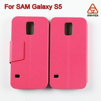 OEM color wholesale mobile phone for Samsung Galaxy S5 flip leather case