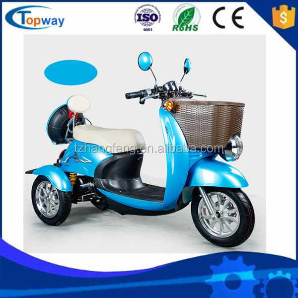 Electric Mini three wheel tricycle for adults with 500w bldc motor