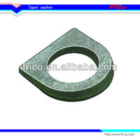 High quality D Shape Round Taper Washer