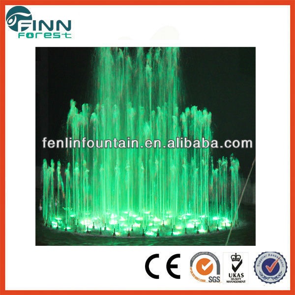 outdoor or indoor colorful multimedia digital water curtain fountain