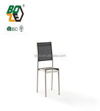 brushed aluminum and batyline outdoor chair