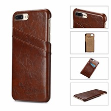 Mobile Phone Accessories Leather Skin Credit Card Case For Iphone 6P 7P Back Cover