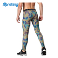 Sports fitness camouflage pants men's elastic speed dry air tight training pants printed running camouflage pants
