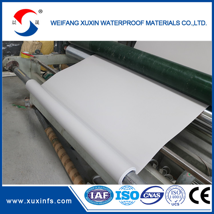 High Puncture Resistance TPO Waterproofing Membrane 1.2mm with fiberglass