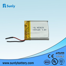 customized high voltage lp453029 li-ion 3.8v battery 400mah for led light