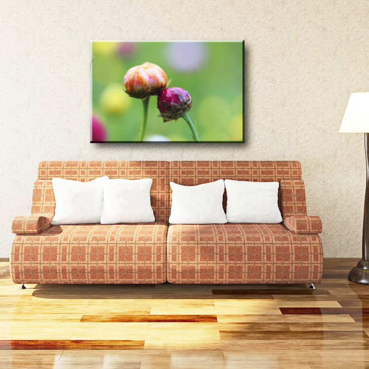 China factory printed natural scenery flower outdoor canvas art painting