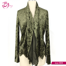 Army Green Long Sleeve Design Your Own Cheap Blouse For Ladies