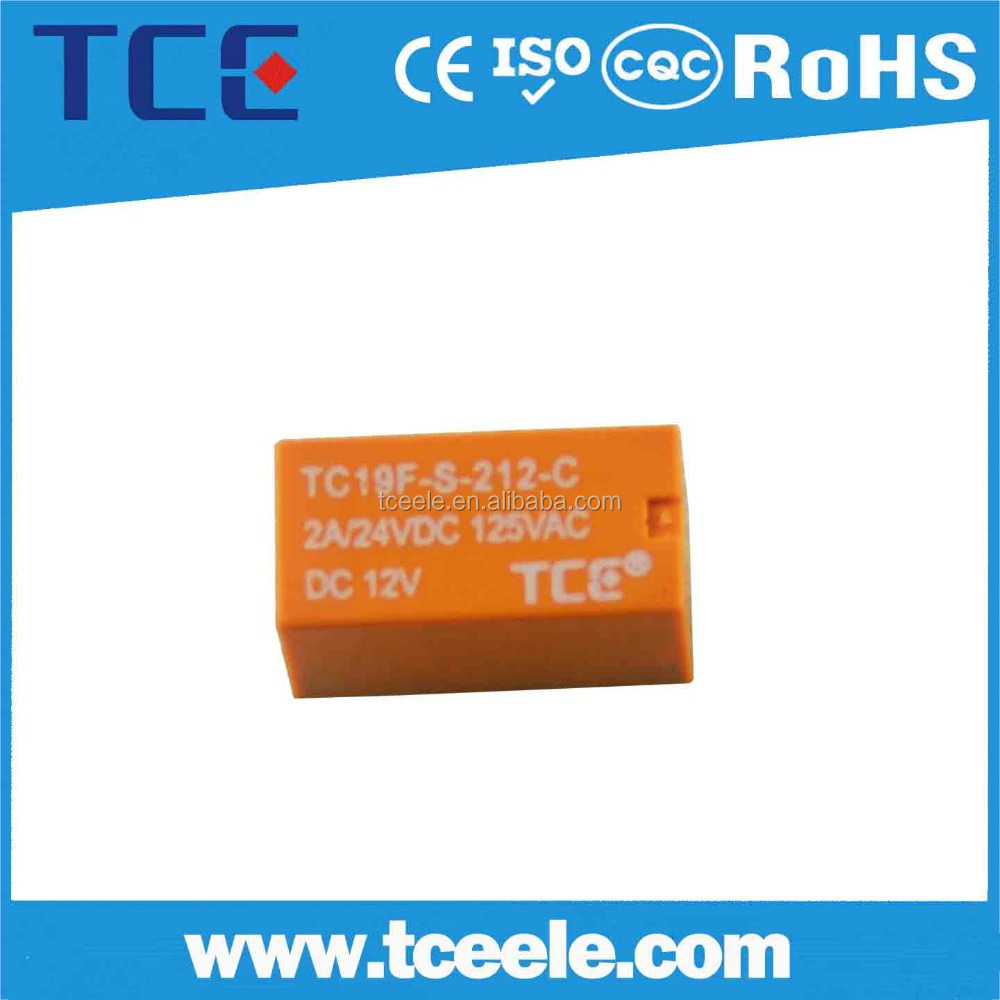 dc 48v Miniature electronic pcb timer relay