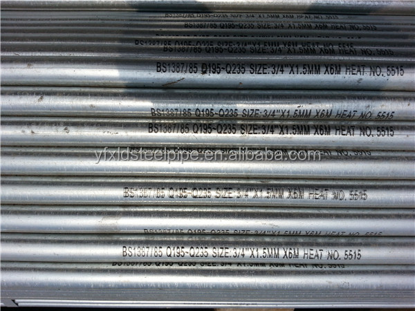 ASTM A53 schedule 40 galvanized iron pipe with thread socket