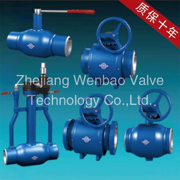Trunnion Mounted Ball Valve Handle lever / gear operated Type Welded Ball Valves Price