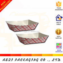 disposable 1 color custom printed paper cake food tray for fries packaging