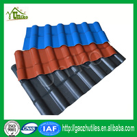 orange red dimension stability corrugated blue synthetic spanish roof tile for sheds
