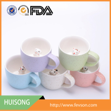 New cute 3D animal ceramic mugs,Customized coffee cup/ ceramics milk mug with Logo