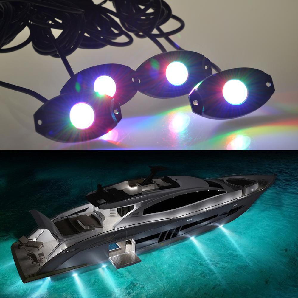 30mm Outdoor IP68 Waterproof Recessed RGB Led Boat Deck Light
