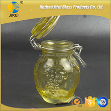100ml colored wire bail round canning glass mason jars