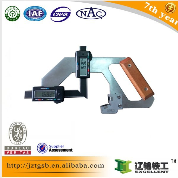 railway maintenance equipment TGS-50KG Digital Display Rail Abrasion Measuring tools