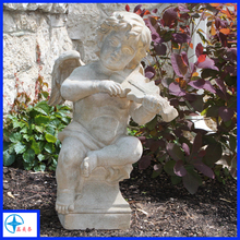 hot selling outdoor decor resin baby figure marble angel figure