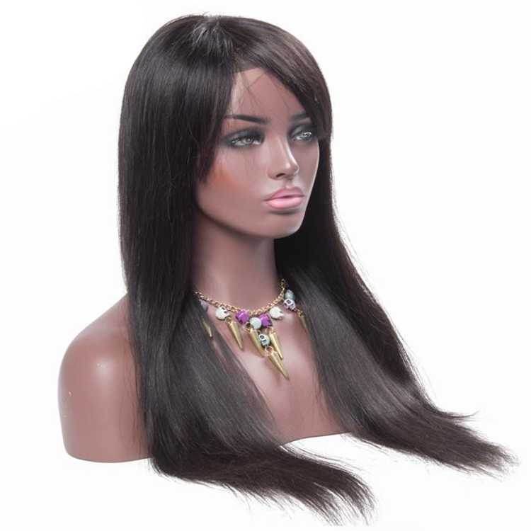 stock low 100% 120% 150% 180% 200%high density indian remy lace front wig real human hair full lace wig in dubai