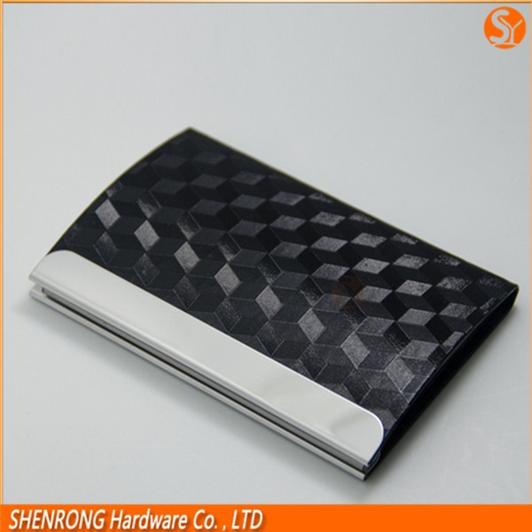 China supolier Customized design pu leather card case for men