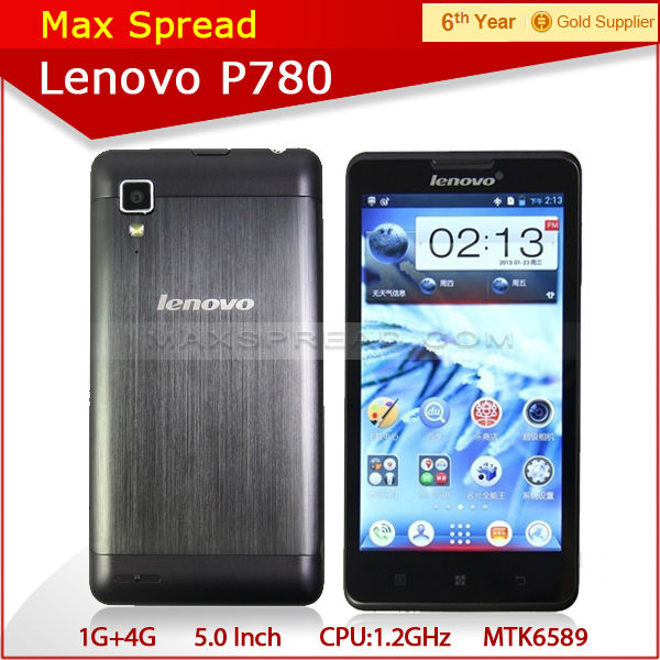 Hot sales 5 inch android lenovo p780 quad core mtk6589 3g wifi mobile phone