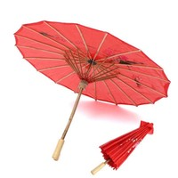 chinese red paper 24 ribs umbrella from china wholesale