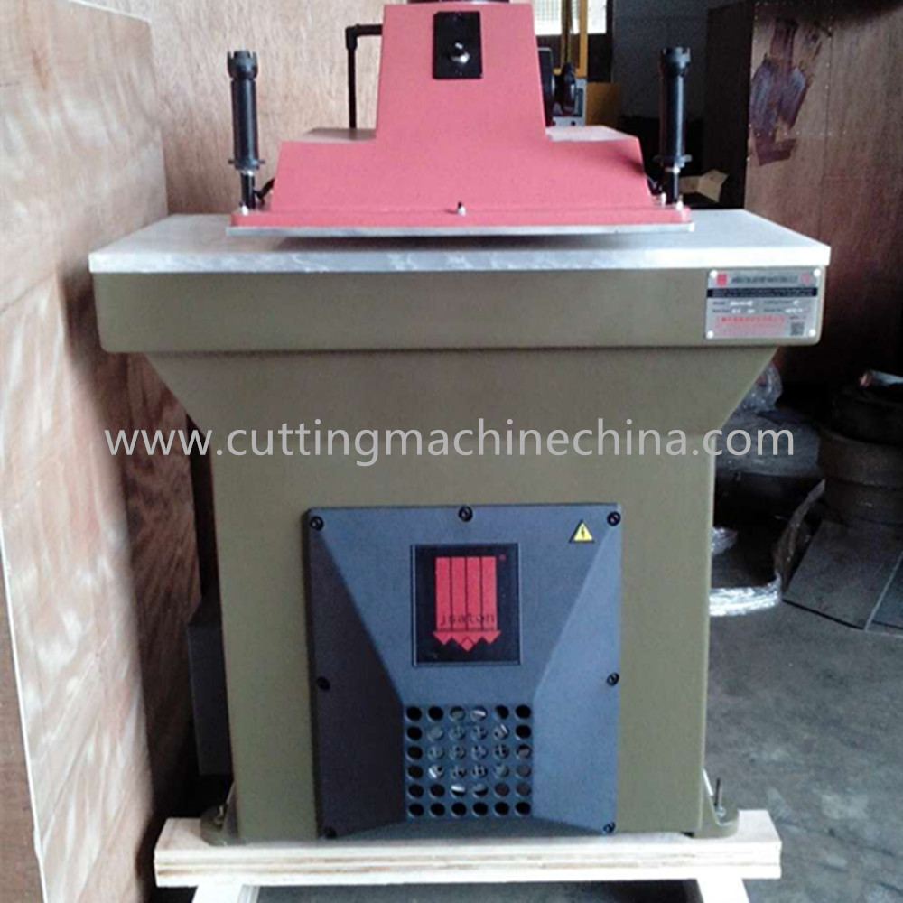 atom design swing arm leather processing cutting machine