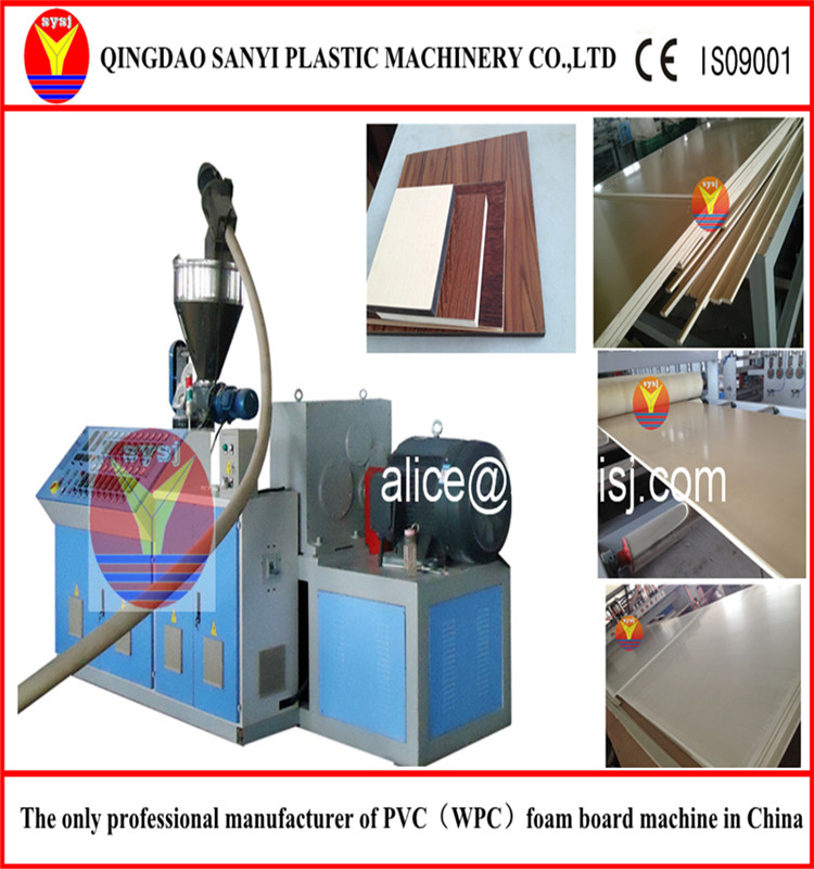 PVC foaming plastic-wood profile/board production line