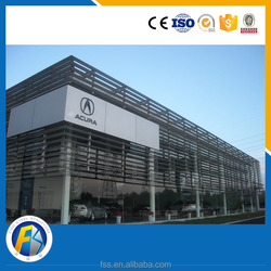 steel construction & real estate car showroom building