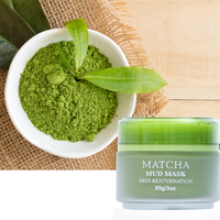 Wholesale Private Label Custom Bentonite Clay Facial Care Face Mud Mask Matcha Green Tea Mud Mask