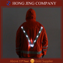 2017 Newest High Visibility Polyester Rain Coat