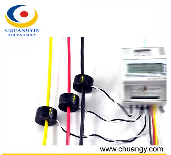 100A Split core DC/ AC current transformer a Open Hall Current Sensor