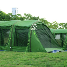 Mixed olive army green big family tent inflatable tunnel tent
