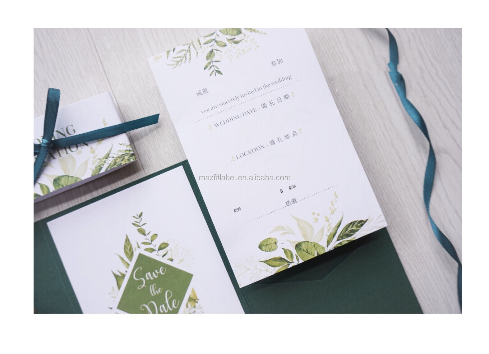 Guaranteed custom quality wedding invitation card design