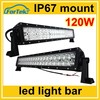 22inch 12v/24v amber led light bar 120W led light bar for off road lights