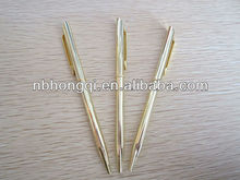 High quality Silver/Golden color Thin Slim Metal Pens Twist pens