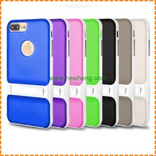 wholesale color stand TPU silicon mobile phone case for iphone 7