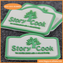 Wholesale soft plastic cheap customized garment label 3D PVC silicone rubber label